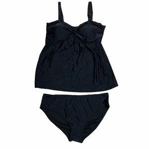 Black 2XL tankini bathing suit NWT